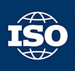ISO logo blue